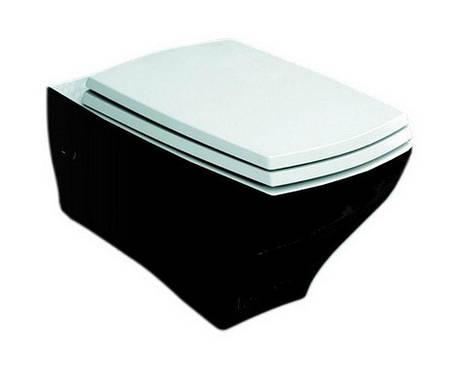 Підвісний унітаз ArtCeram Jazz, black white (JZV0010150), фото 2