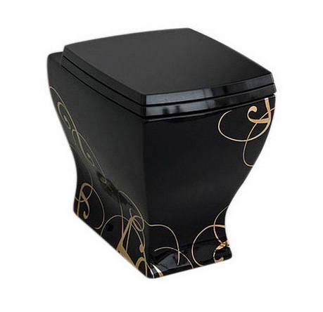 Підлоговий унітаз ArtCeram Jazz, gold lettering black (JZV0020306), фото 2