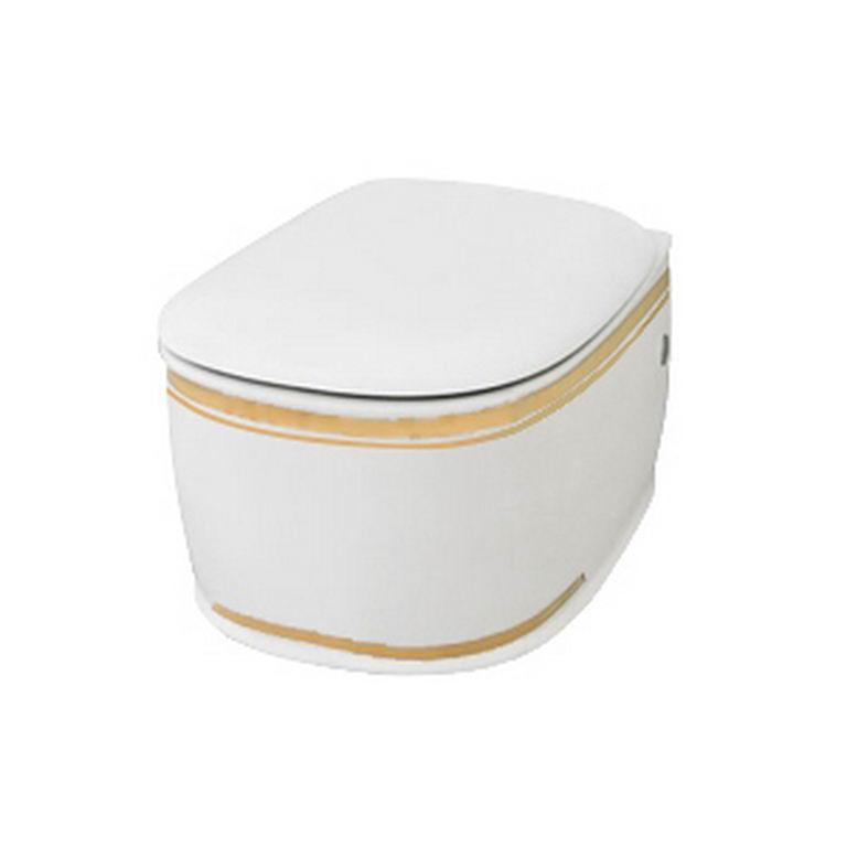 Підвісний унітаз ArtCeram Azuley, gold stripes (AZV0010111)