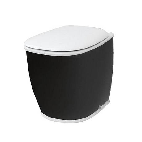 Підлоговий унітаз ArtCeram Azuley, black white (AZV0020150), фото 2