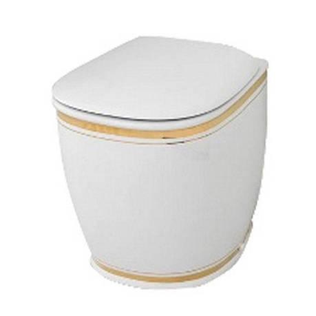 Підлоговий унітаз ArtCeram Azuley, gold stripes (AZV0020111), фото 2