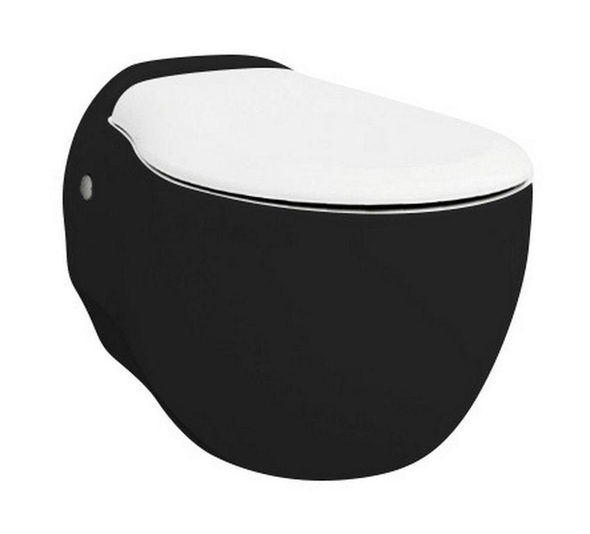 Підвісний унітаз ArtCeram Blend, black white (BLV0010150)
