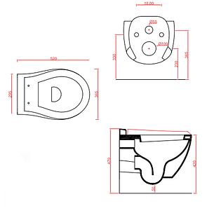 Підвісний унітаз ArtCeram Blend, black lettering (BLV0010103), фото 2