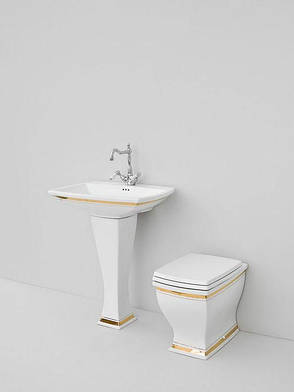 Підлоговий унітаз ArtCeram Blues, gold stripes (BUV0020111), фото 2