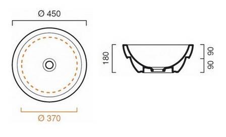 Умивальник-чаша Catalano Sfera 45, чорний (145ACPS), фото 2