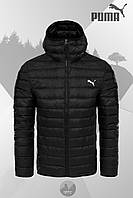 Зимняя мужская куртка, стеганая мужская куртка, зимняя куртка-бомбер Puma, ТОП-Реплика