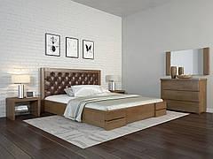 Двоспальне ліжко Арбор Древ Регіна Люкс ромб 140х200 сосна (RDL140) Оббивка білий колір (BOSTON 26) Білий (структура дерева не проглядається)