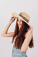 Широкополая шляпа  Шляпа широкополая Альда бежевая 56 (SHL-1918)