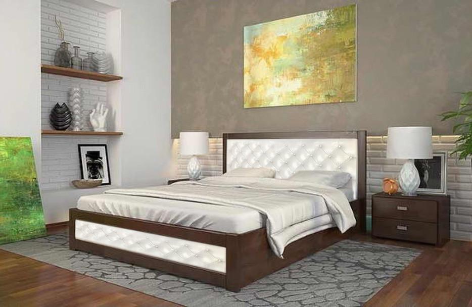 Двоспальне ліжко Арбор Древ Рената Д з підйомним механізмом ромб 180х200 сосна (RDR180)