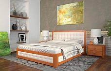 Двоспальне ліжко Арбор Древ Рената М з підйомним механізмом ромб 160х200 сосна (RMN160), фото 2