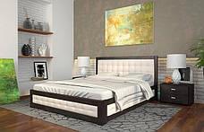 Двоспальне ліжко Арбор Древ Рената М з підйомним механізмом ромб 180х200 бук (RNM180), фото 3