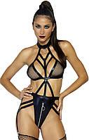 Нужные акценты - Сексуальное боди Cage strap garter teddy, цвет: черный