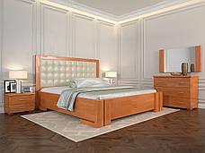 Двоспальне ліжко Арбор Древ Амбер з підйомним механізмом 160х200 бук (ADB160), фото 3
