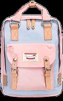 Женский городской рюкзак Doughnut Macaroon пудра Код 10-5558