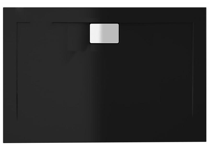 Душовий піддон Polimat Vegar 90x80 чорний (00158)