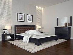 Двоспальне ліжко Арбор Древ Монако 160х200 бук (AMD160) Оббивка білий колір (BOSTON 26) Яблуня Локарно