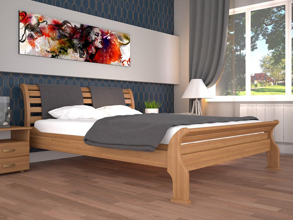 Односпальне ліжко ТИС Ретро 2 90x200 бук (TYS17)