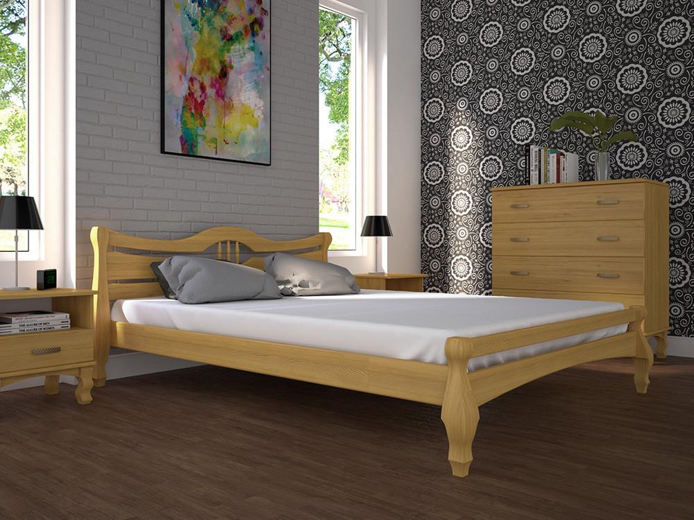 Односпальне ліжко ТИС Корона 1 90x200 сосна (TYS19)