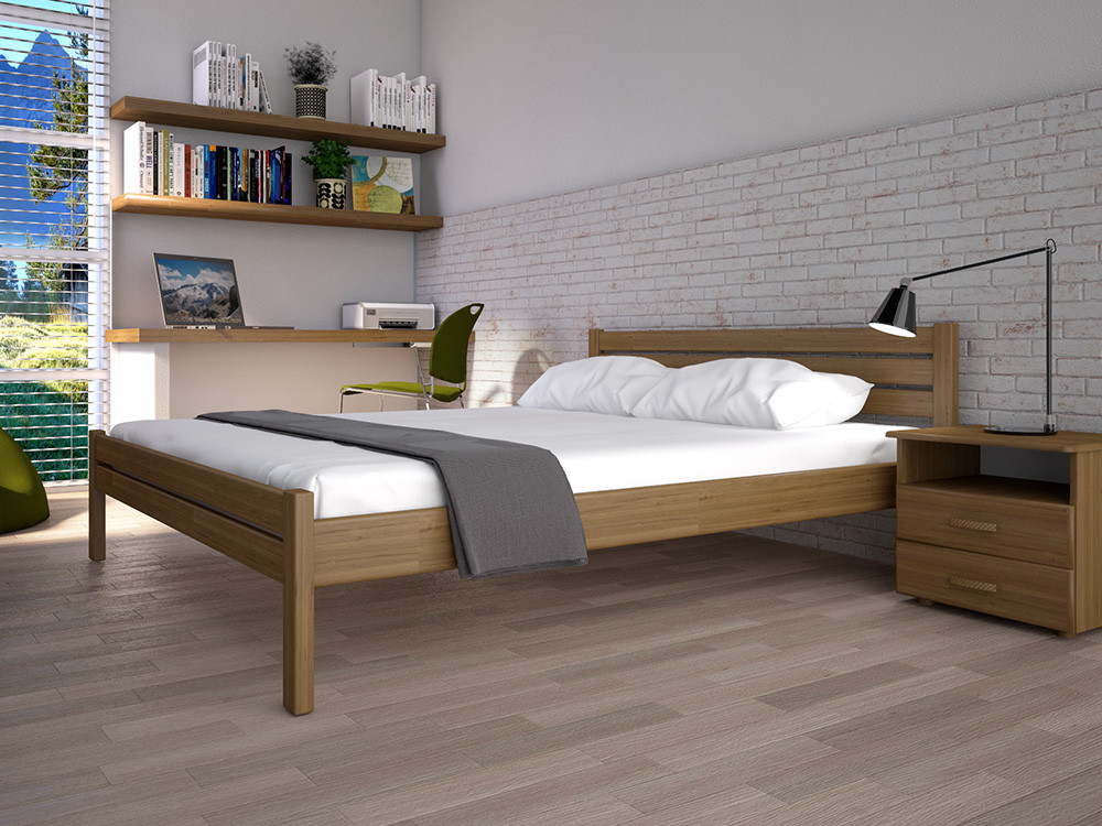 Односпальне ліжко ТИС Класика 120x200 дуб (TYS111)