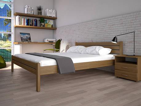 Односпальне ліжко ТИС Класика 120x200 дуб (TYS111), фото 2