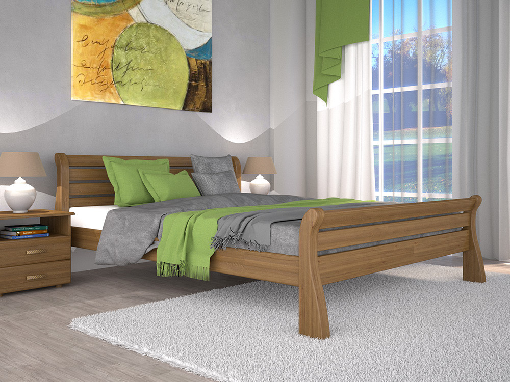 Двоспальне ліжко ТИС Ретро 1 160x200 сосна (TYS337)