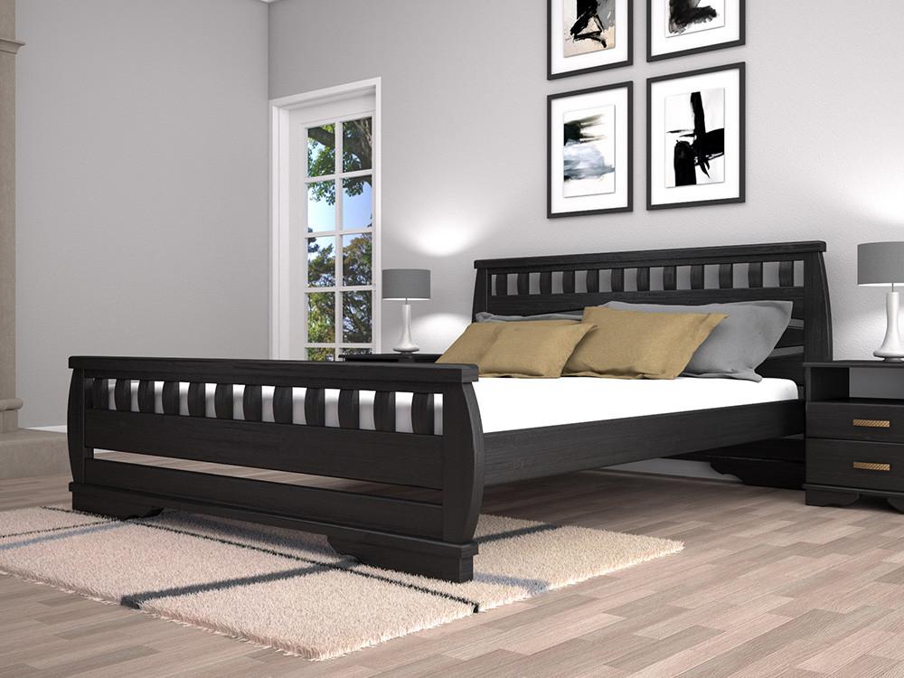 Двоспальне ліжко ТИС Атлант 4 180x200 дуб (TYS477)
