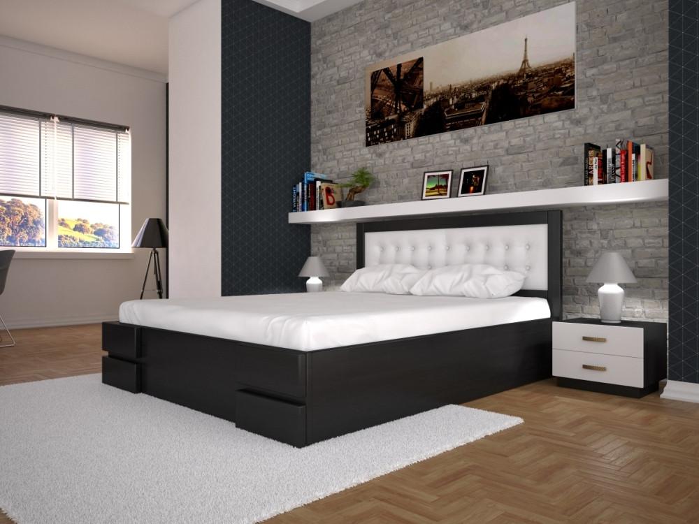 Односпальне ліжко ТИС Кармен з підйомним механізмом 140x200 бук (TYS203)