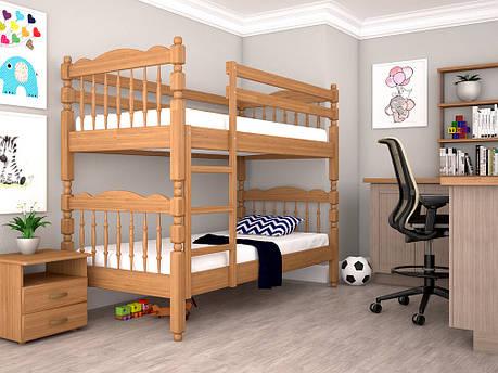 Двоярусне ліжко ТИС Трансформер 2 90x200 бук (TS10), фото 2