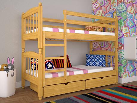 Двоярусне ліжко ТИС Трансформер 3 90x200 сосна (TS14), фото 2