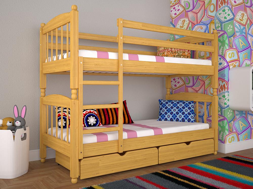 Двоярусне ліжко ТИС Трансформер 3 90x200 дуб (TS18)