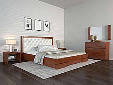 Односпальне ліжко Арбор Древ Регіна Люкс ромб 120х190 бук (TR120.2), фото 3