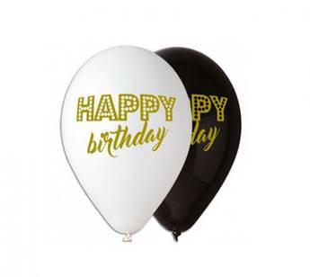 "Шарик латексный 12"" ""Happy Birthday"" (100 штук)"