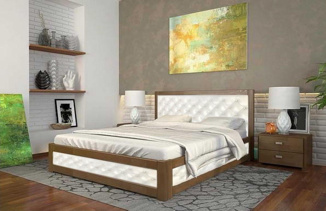 Двоспальне ліжко Арбор Древ Рената М з підйомним механізмом ромб 160х190 бук (RNM160.2)