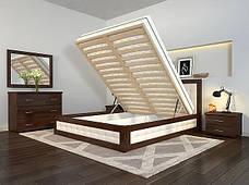 Двоспальне ліжко Арбор Древ Рената М з підйомним механізмом ромб 160х190 бук (RNM160.2), фото 3