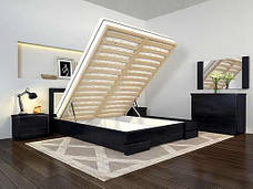 Двоспальне ліжко Арбор Древ Регіна Люкс з підйомним механізмом 160х190 бук (RLB160.2), фото 3