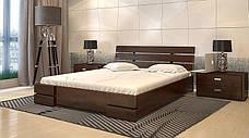 Двоспальне ліжко Арбор Древ Далі Люкс з підйомним механізмом 180х190 бук (DLB180.2), фото 3