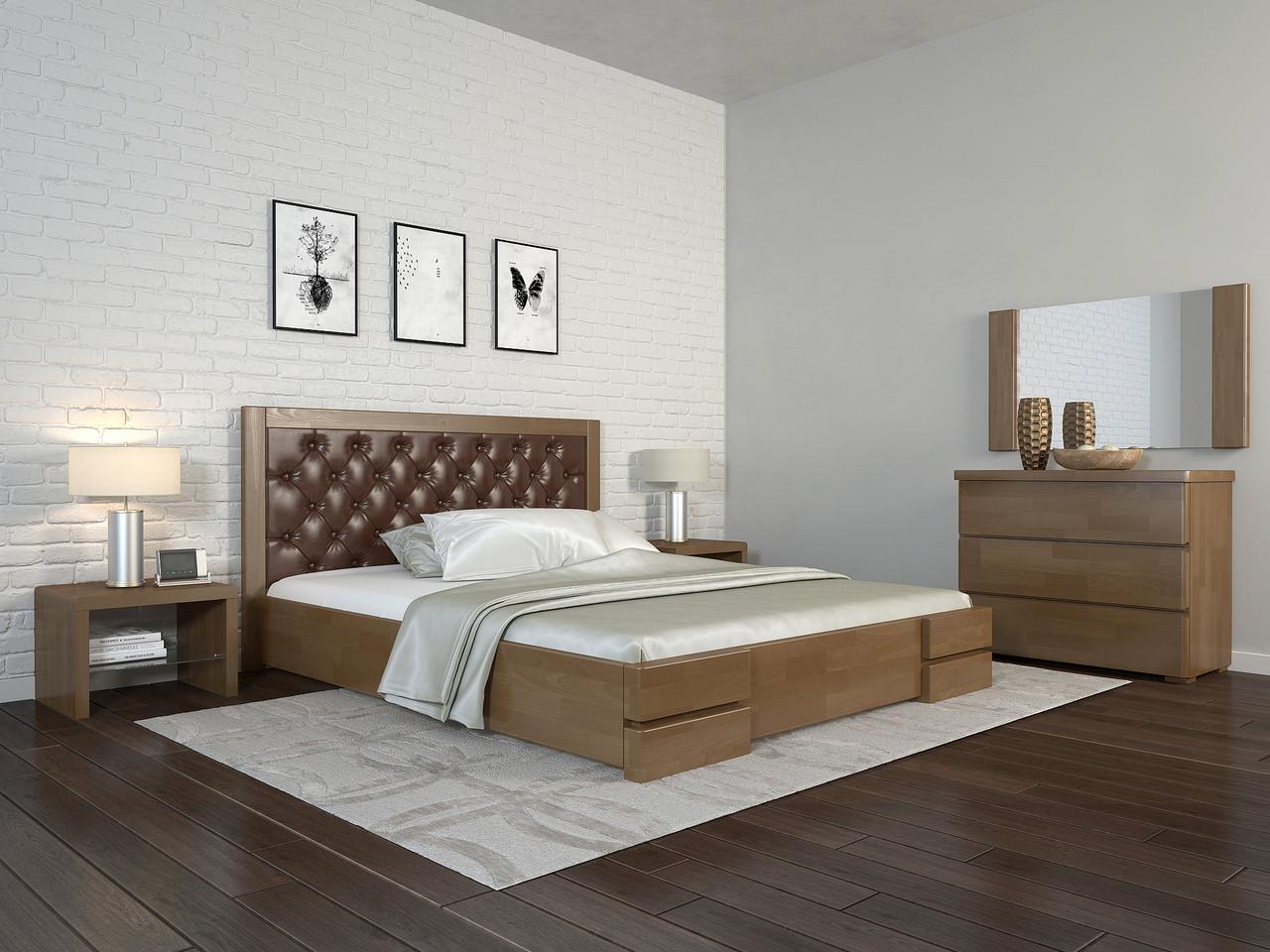 Двоспальне ліжко Арбор Древ Регіна Люкс з підйомним механізмом ромб 160х190 сосна (DH160.2)