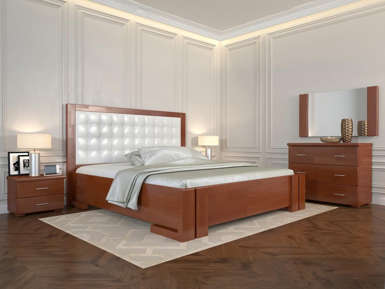 Двоспальне ліжко Арбор Древ Амбер з підйомним механізмом 180х190 бук (ADB180.2)
