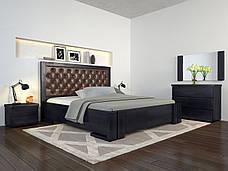 Двоспальне ліжко Арбор Древ Амбер з підйомним механізмом ромб 180х190 сосна (ADR180.2), фото 3