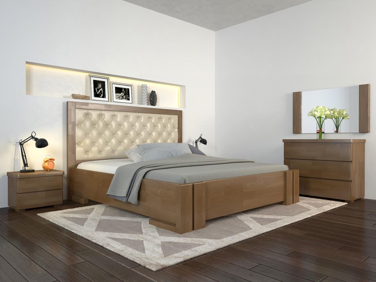 Двоспальне ліжко Арбор Древ Амбер з підйомним механізмом ромб 180х190 бук (ADZ180.2)