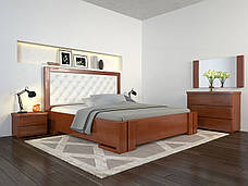 Двоспальне ліжко Арбор Древ Амбер з підйомним механізмом ромб 180х190 бук (ADZ180.2), фото 3