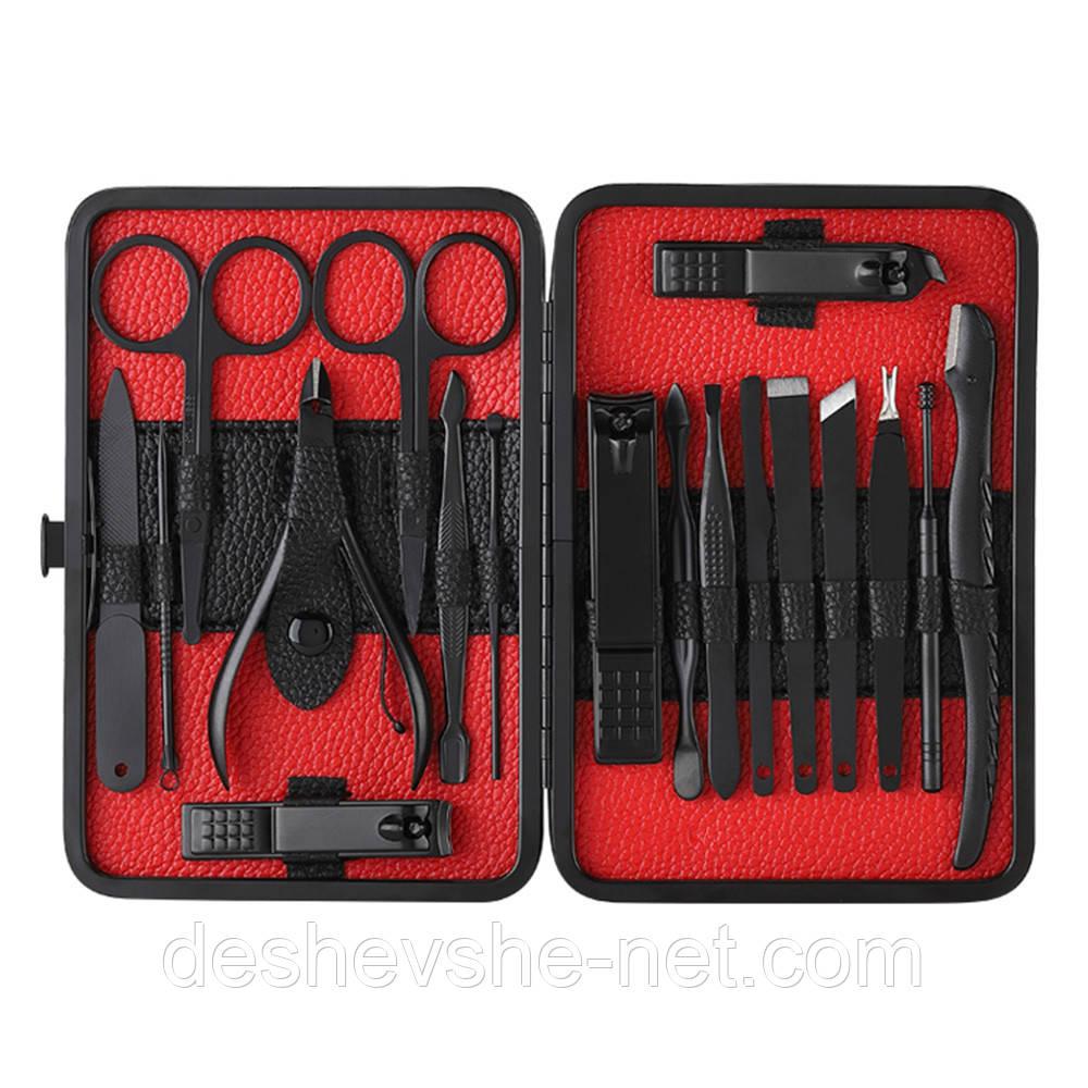 Профессиональный маникюрный набор из 18 инструментов в пенале, педикюрный набор