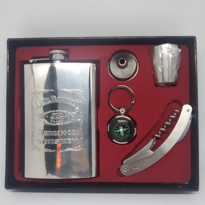 Мужской подарочный набор с флягой Jack Daniels 255мл TZ2