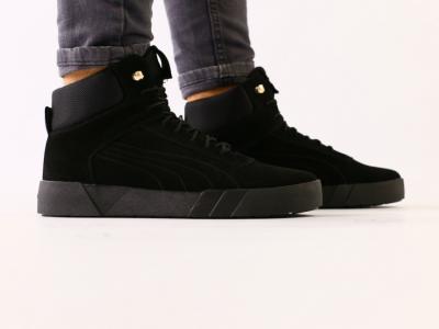 Мужские зимние замшевые черные ботинки
