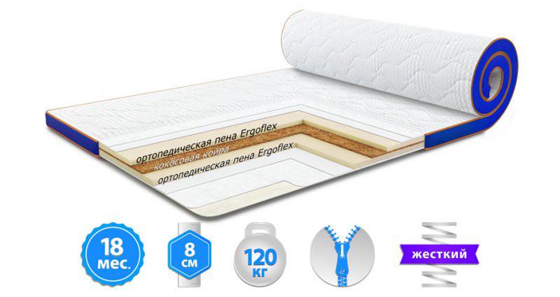 Футон Sleep&Fly Flex Kokos Стрейч 160x190 см (3003731601901)