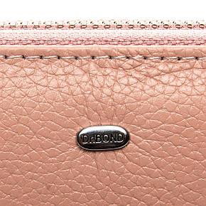 Кошелек - визитница на змейке, цвет- розовый, Classic кожа DR. BOND (WS-8 pink), фото 2