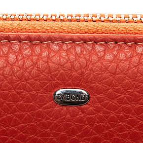 Визитница - кошелек на змейке, цвет - оранжевый, Classic кожа DR. BOND (WS-8 orange), фото 2