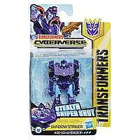 Трансформер Шэдоу Страйкер Transformers Cyberverse Action Attackers: Scout Class Shadow Striker Action Figure Toy 10 см Hasbro E3633