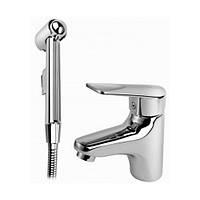 Змішувач для умивальника Armatura Topaz з гігієнічним душем для біде (4012-515-00)