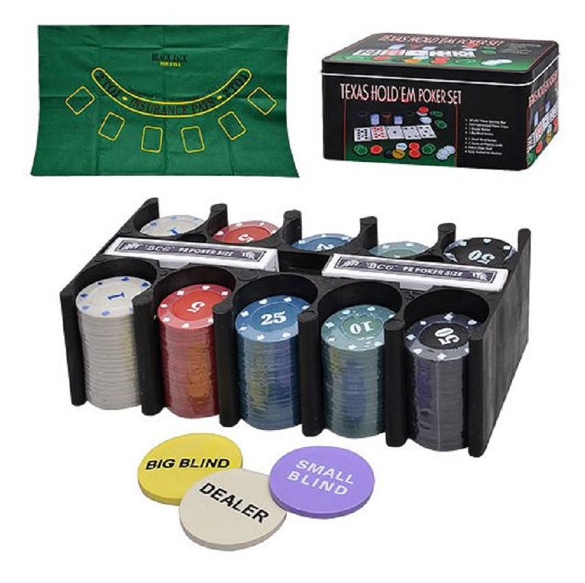 Настольная игра Покер фишки, 2 колоды карт, сукно